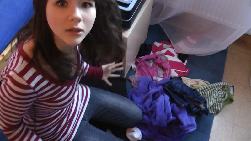 Cleaning up the room... OMG